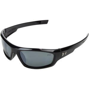 アンダーアーマー メンズ スポーツサングラス UA Power Polarized Shiny Black/Gray Polarized Multiflection|fermart2-store