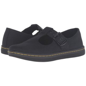 ドクターマーチン Dr. Martens レディース ローファー・オックスフォード シューズ・靴 Woolwich T Bar Black Canvas|fermart2-store