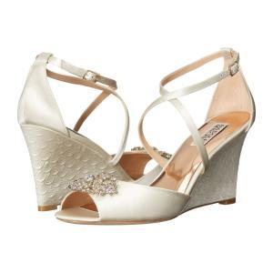 バッジェリー ミシュカ レディース サンダル・ミュール シューズ・靴 Abigail Ivory Satin|fermart2-store