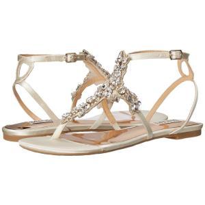 バッジェリー ミシュカ レディース サンダル・ミュール シューズ・靴 Cara Ivory Satin|fermart2-store