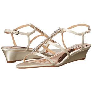 バッジェリー ミシュカ レディース サンダル・ミュール シューズ・靴 Carley Ivory Satin|fermart2-store