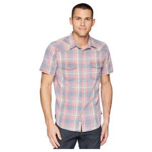 ラッキーブランド Lucky Brand メンズ 半袖シャツ トップス Short Sleeve Santa Fe Western Shirt Red/Blue Plaid|fermart2-store