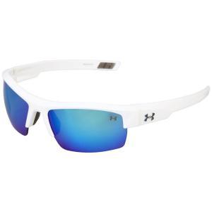 アンダーアーマー メンズ スポーツサングラス UA Igniter Shiny White /Gray Blue Multiflection|fermart2-store
