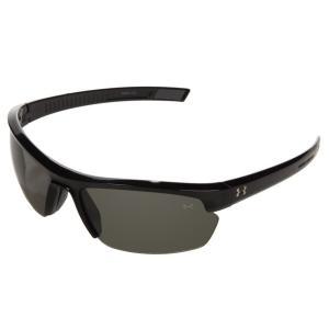 アンダーアーマー メンズ スポーツサングラス UA Stride XL Shiny Black/Gray|fermart2-store