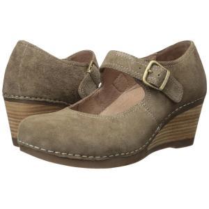 ダンスコ Dansko レディース ヒール シューズ・靴 Sandra Taupe Suede|fermart2-store