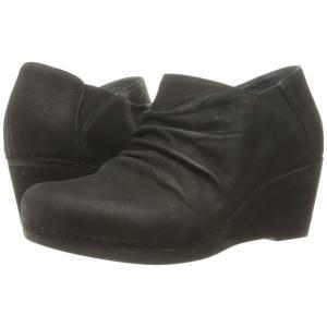 ダンスコ レディース ブーツ シューズ・靴 Sheena Black Nubuck|fermart2-store