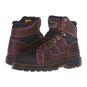 ドクターマーチン Dr. Martens レディース ブーツ シューズ・靴 Ironbridge Tec-Tuff Steel Toe 8-Tie Boot Teak Pitstop|fermart2-store