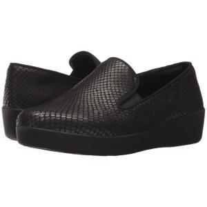 フィットフロップ FitFlop レディース スニーカー シューズ・靴 Superskate Black Snake|fermart2-store