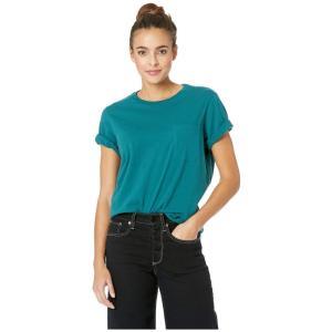 リッチャー プアラー Richer Poorer レディース Tシャツ トップス Crew Pocket Tee Green|fermart2-store