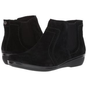 クラークス レディース ブーツ シューズ・靴 Everlay Leigh Black Suede|fermart2-store
