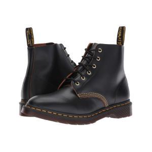 ドクターマーチン Dr. Martens レディース ブーツ シューズ・靴 101 Smooth Archive 6-Eyelet Boot Black Vintage Smooth|fermart2-store