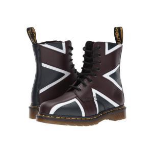 ドクターマーチン Dr. Martens レディース ブーツ シューズ・靴 Union Jack Pascal 8-Eye Boot Navy Smooth/Oxblood Smooth|fermart2-store