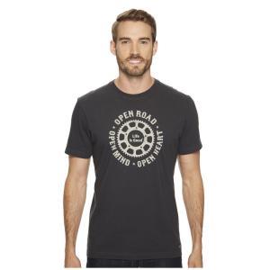 ライフイズグッド Life is Good メンズ Tシャツ トップス Open Road Mind Heart Crusher Tee Night Black|fermart2-store