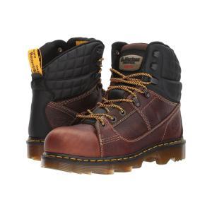 ドクターマーチン Dr. Martens レディース ブーツ シューズ・靴 Camber Alloy Toe Teak Industrial Bear/Black Soft Rubbery|fermart2-store