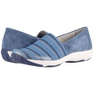 ダンスコ Dansko レディース スニーカー シューズ・靴 Harriet Blue Stretch/Suede|fermart2-store