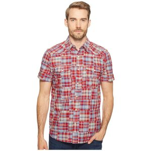 ラッキーブランド Lucky Brand メンズ シャツ トップス Patchwork San Berdu Western Shirt Red Multi|fermart2-store