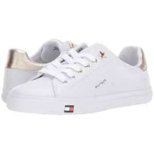 トミー ヒルフィガー Tommy Hilfiger レディース スニーカー シューズ・靴 Lustery White/Gold|fermart2-store
