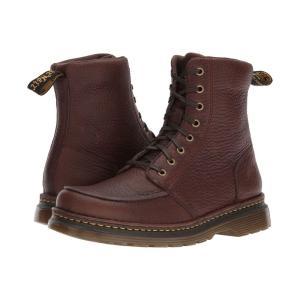 ドクターマーチン Dr. Martens メンズ ブーツ シューズ・靴 Lombardo 8-Eye Boot Dark Brown Grizzly|fermart2-store