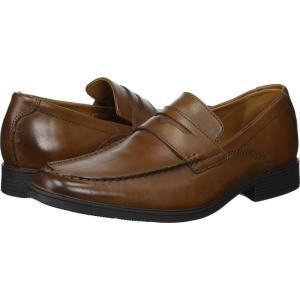 クラークス メンズ ローファー シューズ・靴 Tilden Way Dark Tan Leather|fermart2-store