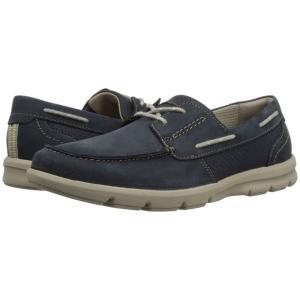 クラークス Clarks メンズ デッキシューズ シューズ・靴 Jarwin Edge Navy Nubuck|fermart2-store