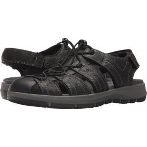クラークス メンズ サンダル シューズ・靴 Brixby Cove Black Leather fermart2-store
