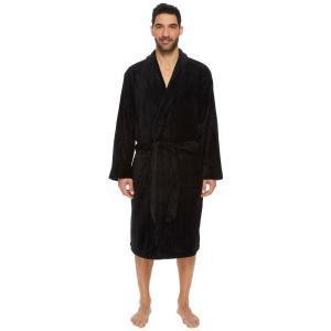 ジョッキー Jockey メンズ ガウン・バスローブ インナー・下着 Drop Needle Robe Black|fermart2-store