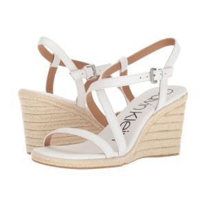 カルバンクライン Calvin Klein レディース エスパドリーユ ウェッジソール シューズ・靴 Bellemine Espadrille Wedge Platinum White fermart2-store