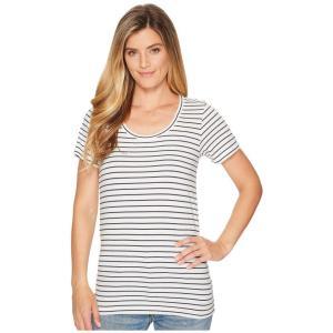 ペンドルトン Pendleton レディース Tシャツ トップス Short Sleeve Pima Stripe Tee Marshmallow/Parisian Nights Stripe|fermart2-store
