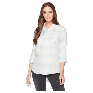 ペンドルトン Pendleton レディース ブラウス・シャツ トップス Plaid Roll Sleeve Soft Shirt Pastel Blue Ombre|fermart2-store