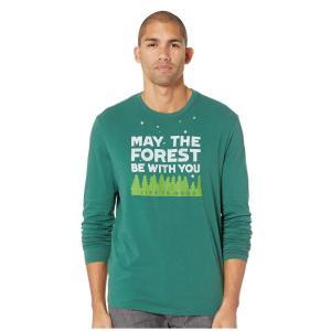 ライフイズグッド Life is Good メンズ 長袖Tシャツ トップス Forest Be With You Smooth Long Sleeve T-Shirt Forest Green|fermart2-store