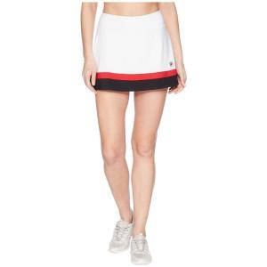 フィラ Fila レディース ボトムス・パンツ テニス Heritage Tennis Skort White/Black/Crimson|fermart2-store