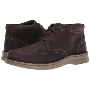 クラークス Clarks メンズ ブーツ シューズ・靴 Vanek Mid Dark Brown Leather|fermart2-store