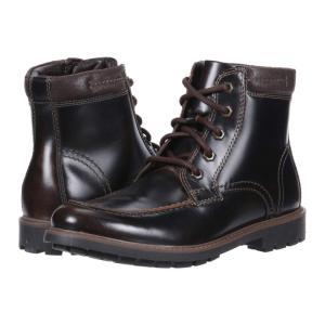 クラークス Clarks メンズ ブーツ シューズ・靴 Curington High Dark Brown Leather|fermart2-store