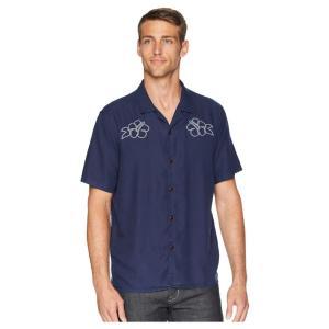 ラッキーブランド Lucky Brand メンズ シャツ トップス Club Collar Embroidered Shirt Salted Blue|fermart2-store
