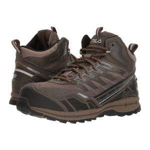 フィラ メンズ スニーカー シューズ・靴 Hail Storm 3 Mid Composite Toe Trail Walnut/Major Brown/Gold Fusion|fermart2-store