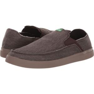サヌーク Sanuk メンズ スリッポン・フラット スニーカー シューズ・靴 Pick Pocket Slip-On Sneaker Dark Brown|fermart2-store