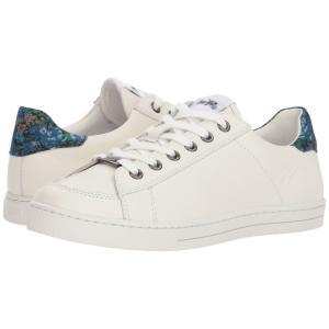 コーチ レディース スニーカー シューズ・靴 C126 Low Top Sneaker White/Black/Blue Floral Leather|fermart2-store