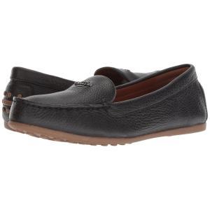 コーチ COACH レディース ローファー・オックスフォード シューズ・靴 Lock Up Driver Black Leather|fermart2-store