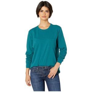 リッチャー プアラー Richer Poorer レディース 長袖Tシャツ トップス Long Sleeve Pocket Tee Green|fermart2-store