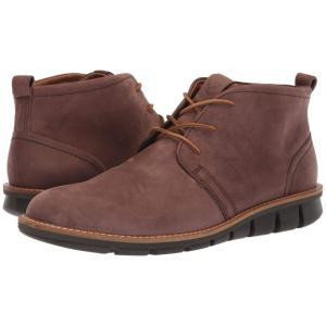 エコー ECCO メンズ ブーツ シューズ・靴 Jeffery Hybrid Boot Coffee Nubuck Leather fermart2-store