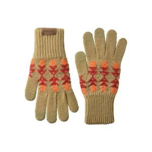 ペンドルトン Pendleton レディース 手袋・グローブ Texting Gloves Tucson Khaki|fermart2-store