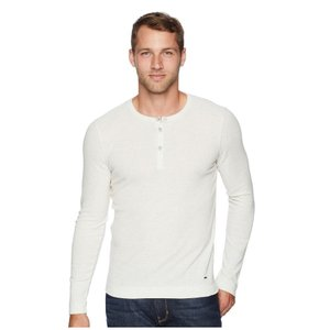 ヒューゴ ボス BOSS Hugo Boss メンズ Tシャツ トップス Trix Henley Natural White|fermart2-store