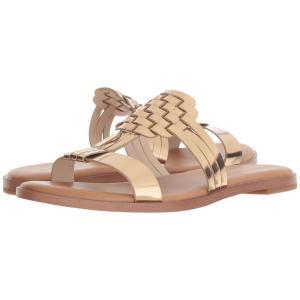 コールハーン レディース サンダル・ミュール シューズ・靴 Findra Woven Sandal Signature Gold|fermart2-store