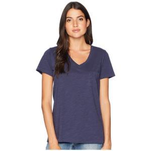 ペンドルトン Pendleton レディース Tシャツ トップス V-Neck Pocket Cotton Tee Indigo|fermart2-store