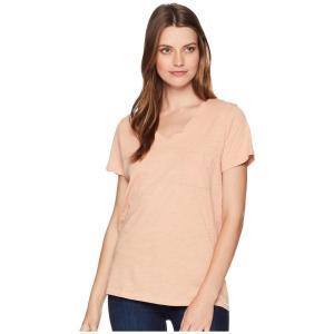 ペンドルトン Pendleton レディース Tシャツ トップス V-Neck Pocket Cotton Tee Caf? Cr?me|fermart2-store