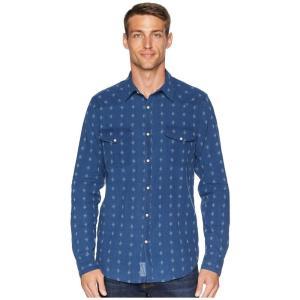 ラッキーブランド Lucky Brand メンズ シャツ トップス Indigo Dobby Western Shirt Blue Multi|fermart2-store