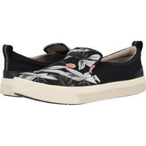 トムス TOMS メンズ スリッポン・フラット シューズ・靴 TRVL LITE Slip-On Black Floral Print|fermart2-store