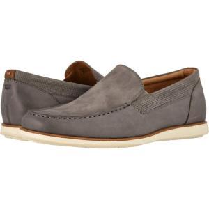 フローシャイム Florsheim メンズ スリッポン・フラット モックトゥ シューズ・靴 Atlantic Moc Toe Venetian Slip-On Gray Nubuck w/White Sole|fermart2-store