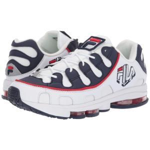 フィラ Fila メンズ スニーカー シューズ・靴 Silva Trainer White/Fila Navy/Fila Red|fermart2-store
