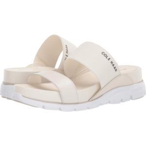 コールハーン Cole Haan レディース サンダル・ミュール スライドサンダル Zerogrand Double Band Slide Sandal Ivory Leather/Birch Leather/Optic White|fermart2-store